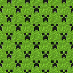 Green Ghost Minecraft Pattern