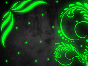 Green Glow Background