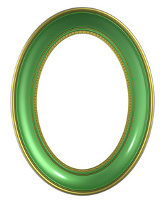 Green-gold Frame Isolated On White Background.
