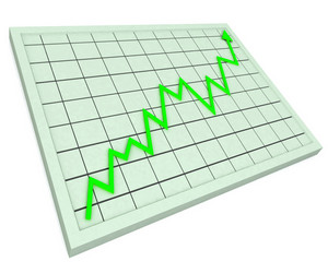 Green Graph Shows Profit Increase