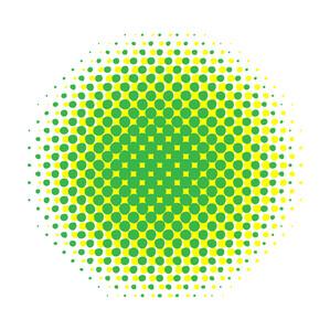 Green Grunge Halftone Banner
