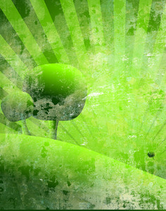 Green Grunge Nature Tree Background