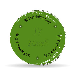 Green Grunge Rubber Stamp With Text St. Patrick's Day Written Inside