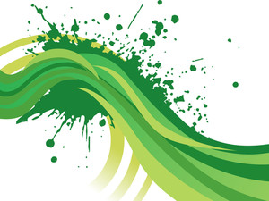 Green Grunge Waves Background