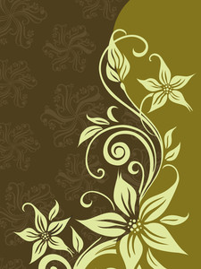 Green Halftone Background With Bloom Pattern