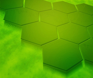 Green Hexagons Abstract Background