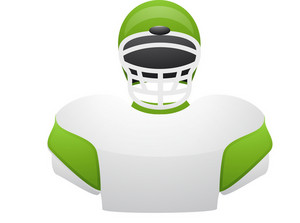 Green Highlight Football Jersey