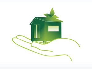 Green House On Hand Vector Wallpaper