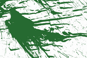 Green Ink Splashed