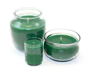 Green Jar Candle Set
