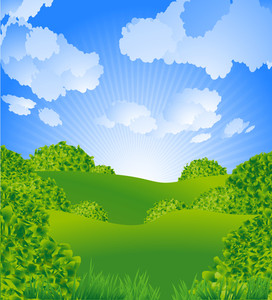 Green Landscape. Vector.
