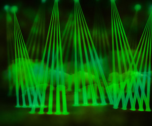 Green Laser Stage Background