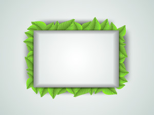 Green Leaves Decorated Frame.