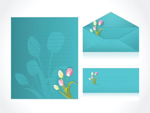 Green Letter Of Floral Background
