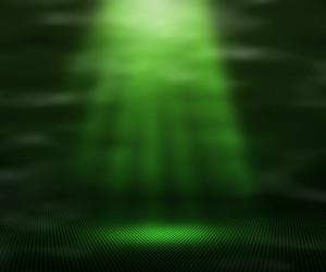 Green Magic Spot Light Background