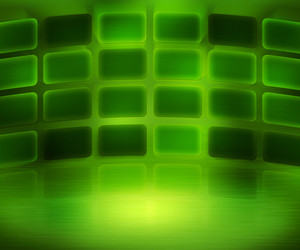 Green Media Wall Background