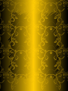 Green Metal Background With Floral