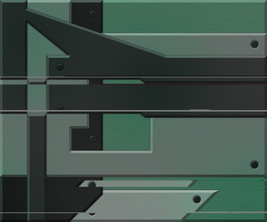 Green Metallic Elements Background