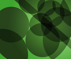 Green Modern Circles Background