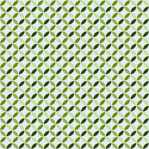 Green Monochrome Circles Pattern