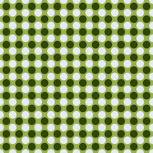 Green Monochrome Polka Dots Pattern