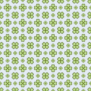 Green Monochrome Shamrock Pattern