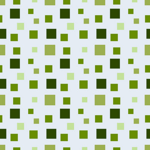 Green Monochrome Squares Pattern