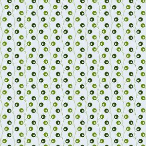 Green Monochrome Vines Pattern
