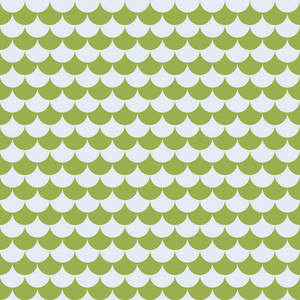Green Monochrome Waves Pattern