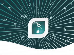 Green Musical Background Wallpaper