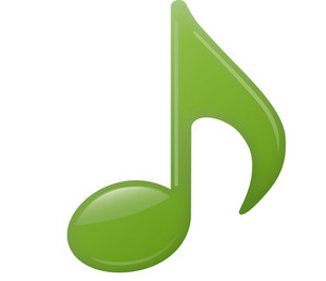 Green Musical Eighth Note