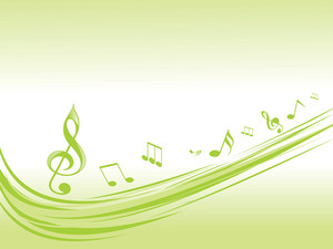 Green Musical Waves Illustration