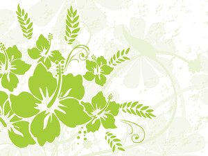 Green Nature Pattern With Seamless Background