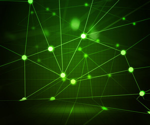 Green Network Stage Background
