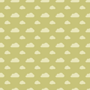 Green Pastel Cloud Pattern