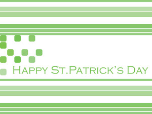 Green Patrick's Day Background 17 March