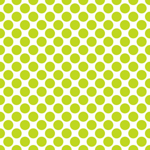 Green Polka Dots Pattern On A White Background