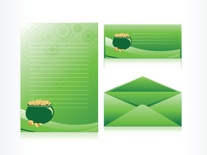 Green Postcard With Earthenware