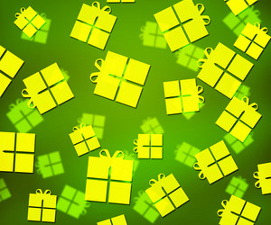 Green Presents Abstract Background