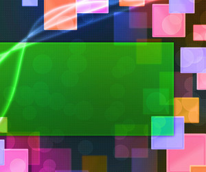 Green Rectangle Abstract Background
