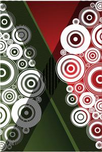 Green Red Circles