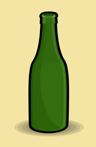 Green Retro Bottle