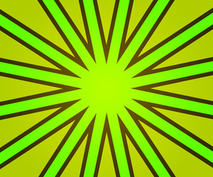 Green Retro Rays Backdrop