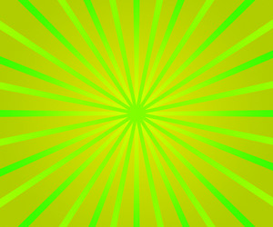 Green Retro Rays Background