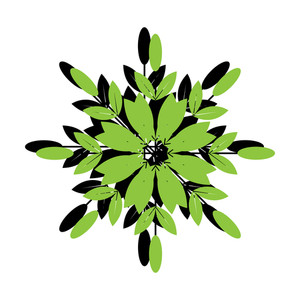 Green Retro Snowflake