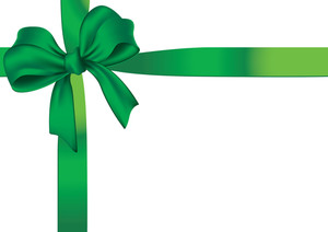 Green Ribbon. Vector.