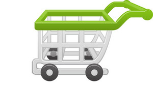 Green Rim Shopping Cart