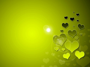 Green Romantic Background