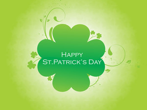 Green Shamrock Background 17 March