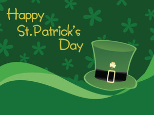 Green Shamrock Background Illustration 17 March
